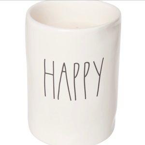 RAE DUNN Happy Candle NWT